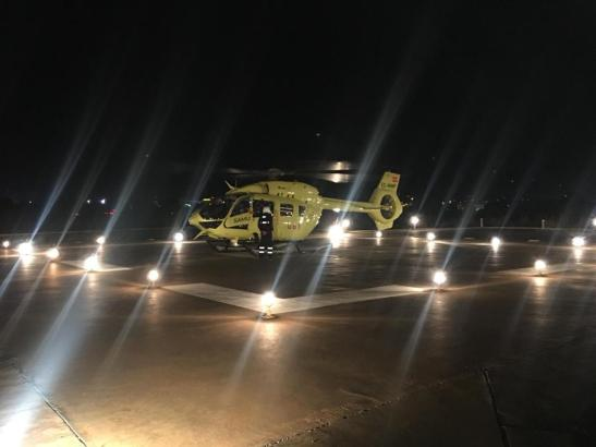 Eine Person musste per Rettungshubschrauber nach Barcelona geflogen werden.