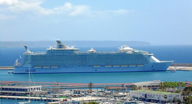 """Blick auf die """"Oasis of the Seas""""."""
