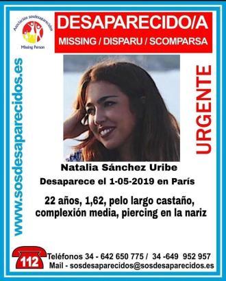 Natalia Sánchez Uribe ist 22 Jahre alt, 162 cm groß und hat lange braune Haare. Sie ist von normaler Statur und trägt ein Nasenp