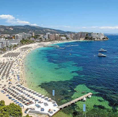 Die Playa Magaluf in der Gemeinde Calvià hat den größten Zulauf an Touristen.