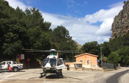 Helikopter der Guardia Civil auf Mallorca.