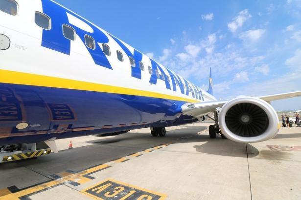 Ryanair-Jet auf dem Mallorca-Airport.