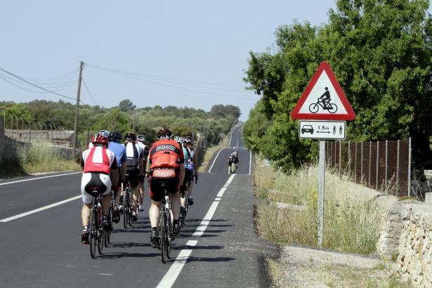 Radfahrer auf Mallorca.