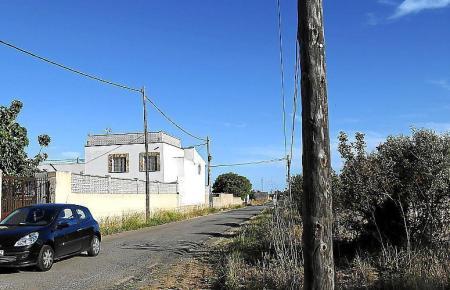 Blick auf das besetzte Anwesen.