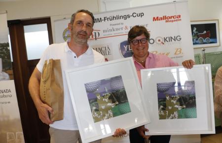 Strahlende Sieger: Sascha Trimborn und Juliane Brüggemann.
