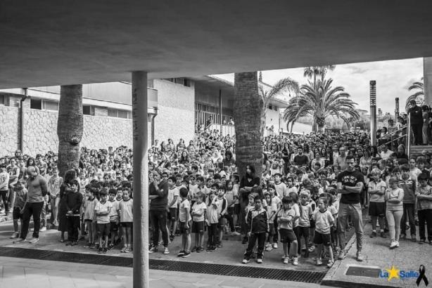 Schweigeminute in der La-Salle-Schule in Palma de Mallorca.