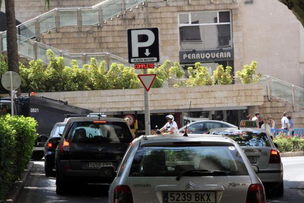 Das Parkhaus unterhalb der Plaça Major zu den gefragtesten.