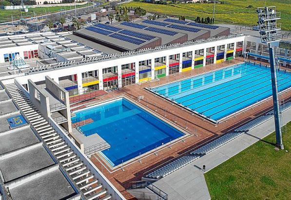 Das Schwimmzentrum befindet sich an Palmas Umgehungsstraße Via Cintura.