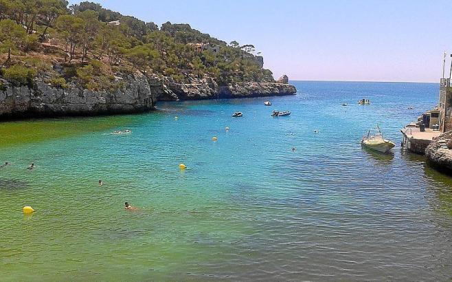 Blick auf die Cala Santanyí.