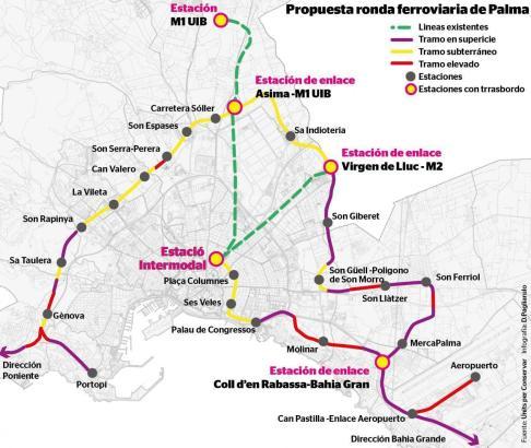 So sieht der Vorschlag für die nue Bahnlinie aus.