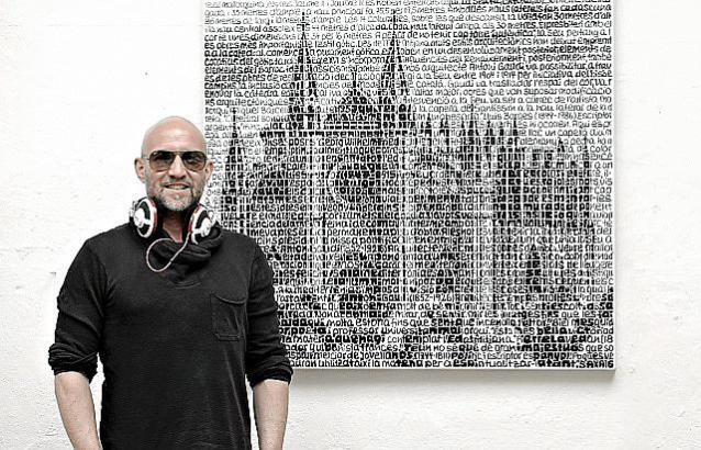 Der deutsche Künstler Saxa stell in Santanyí aus.