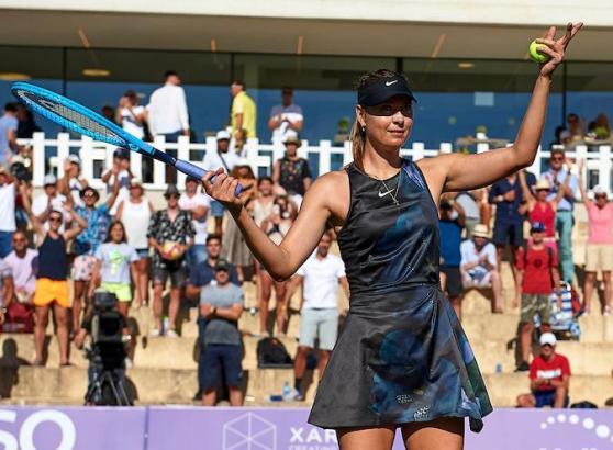 Maria Sharapova nach ihrem Erstrundensieg.