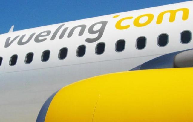 Vueling-Maschine auf Mallorca.