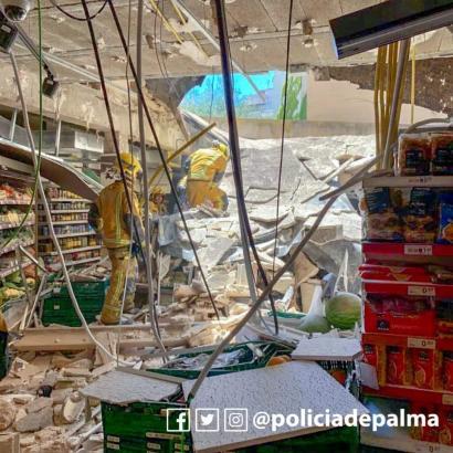 Supermarkt-Einsturz in Palma de Mallorca.