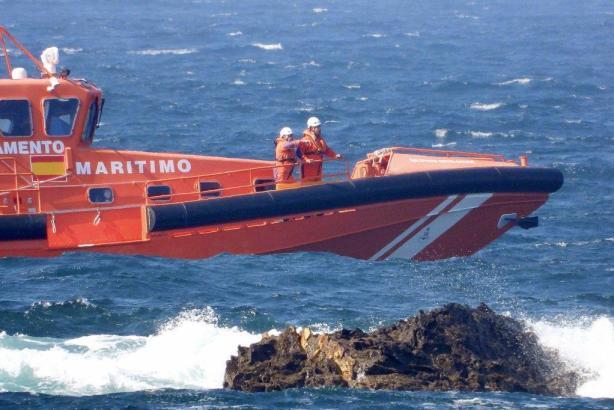Boot des Seenotrettungsdienstes im Einsatz.