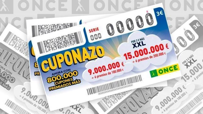 Auf Mallorca verkauftes Cuponazo-Los der Blindenlotterie Once.
