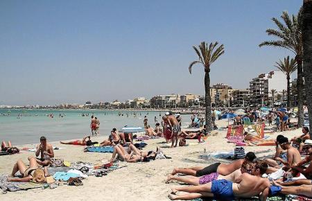Urlauber auf Mallorca.