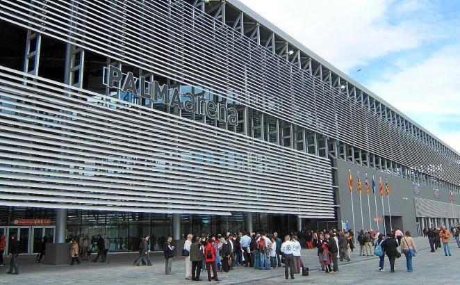 Blick auf die Palma Arena.