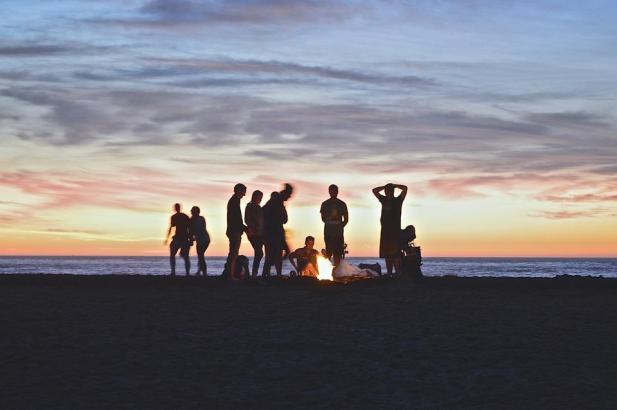 Selbst abends am Strand findet man kaum Abkühlung.
