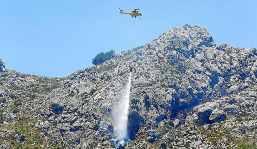 Auch Helikopter waren bei der Brandbekämpfung im Einsatz.