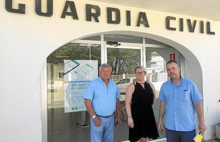 Der Präsident der Ferienhausvermietung auf Mallorca, Jordi Cerdó, begleitete die betrogene norwegische Familie zur Anzeige bei d