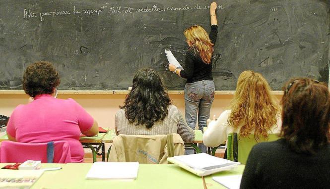 Unterricht auf Katalanisch.