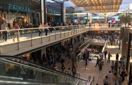 Blick in das FAN-Einkaufszentrum.