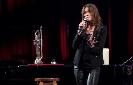 Carla Bruni bei einem Auftritt.