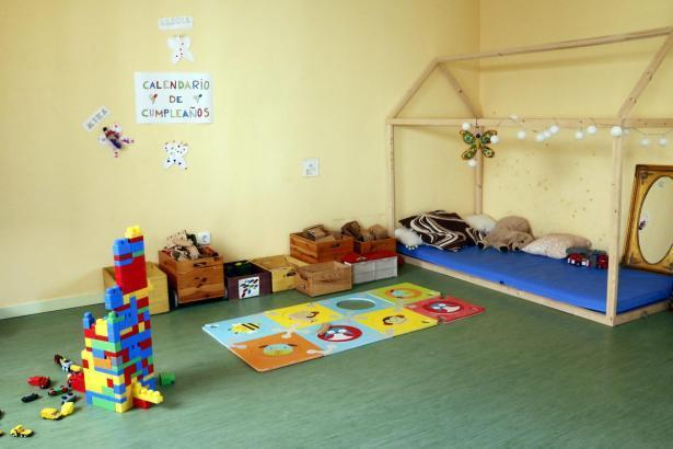 Der Kindergarten befindet sich in Santa Maria.