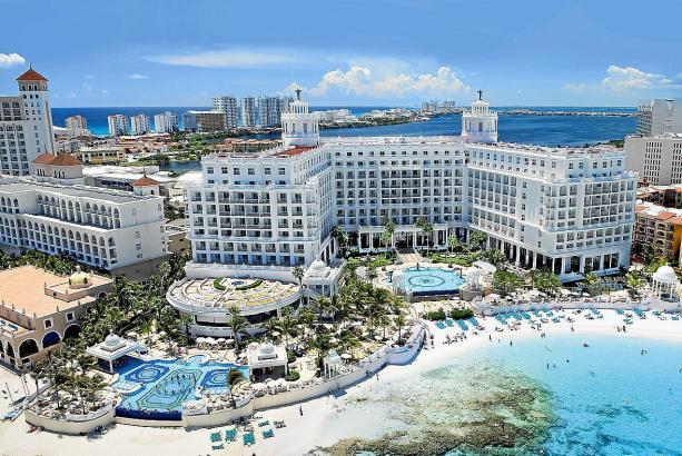 Die Hotels in Cancún, hier das Riu Palace Las Americas, sind im Moment nicht gut gebucht.