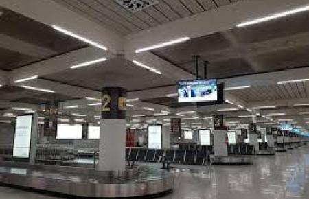 Kofferbänder im Mallorca-Flughafen.