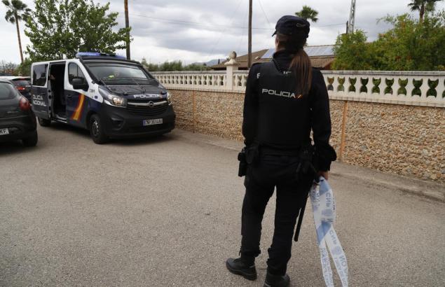 Nationalpolizistin im Einsatz.