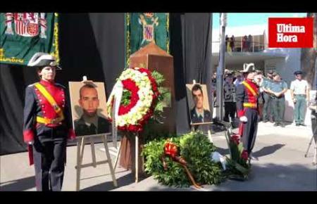 Mallorca gedenkt Diego Salvá und Carlos Sáenz de Tejada, den beiden Zivilgardisten, die bei dem Attentat vom 30. Juli 2009 in Pa