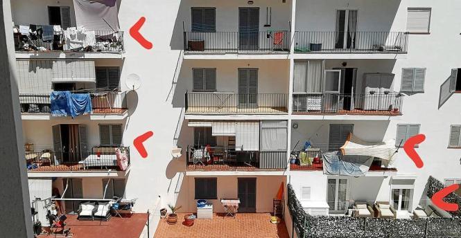 Hier wird auf Balkons übernachtet.