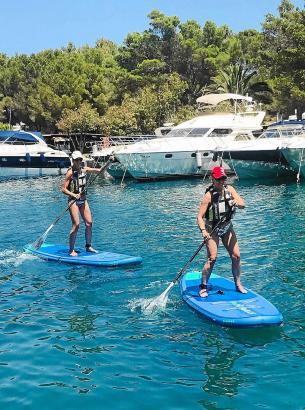 Stand-Up-Paddle ist eine der Trendsportarten auf Mallorca.