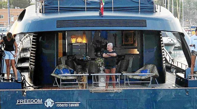 Roberto Cavalli bei seiner Ankunft in Palma.