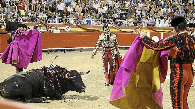 Das Foto zeigt einen Stierkampf in Palma im Jahr 2015.