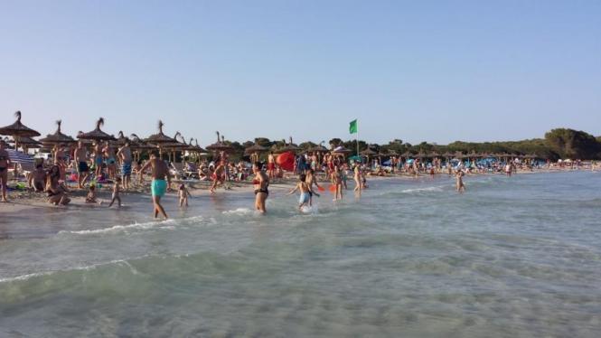 Der Strand von Sa Coma.