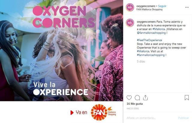 Im Fan-Shoppingzentrum hat die erste Sauerstoffbar der Balearen eröffnet.