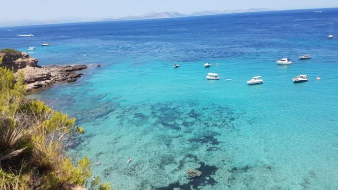 Türkisblaues Wasser vor Mallorca.