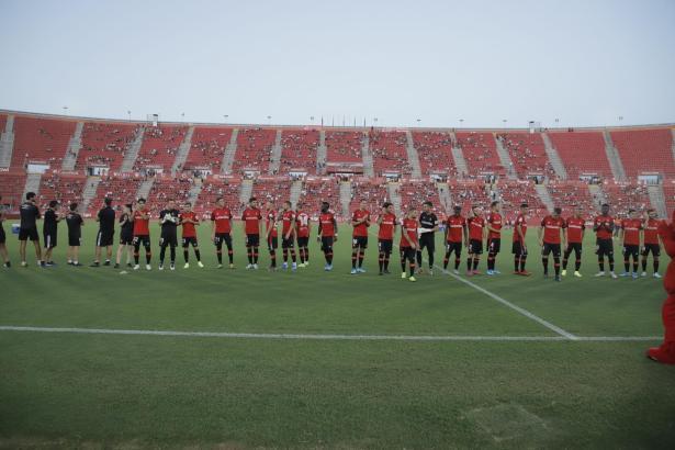 Vor dem Spiel wurde die Mannschaft offiziell den Fans präsentiert.