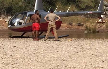 Blick auf den Helikopter.