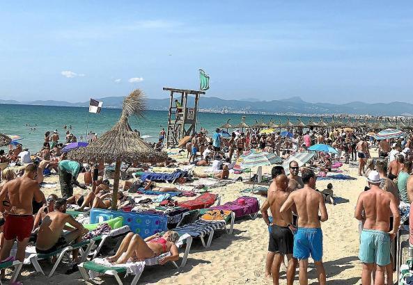 Die Strände der Playa de Palma sind in jedem Jahr gut gefüllt. Dafür spricht auch die hohe Hotelauslastung.