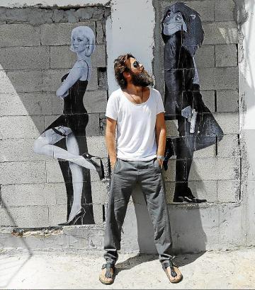 Mit seiner Straßenkunst hat Abraham Calero 2017 beginnen.