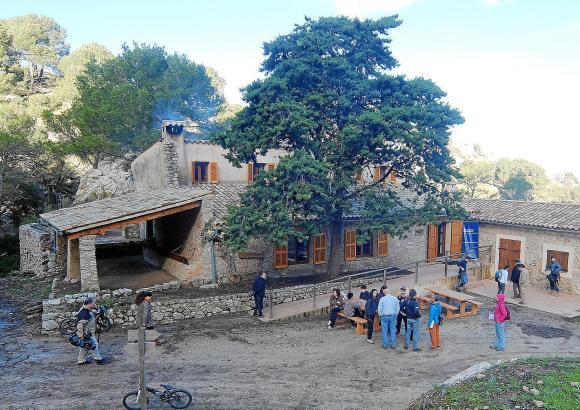 Die Wanderhütte in Sa Coma d'en Vidal.
