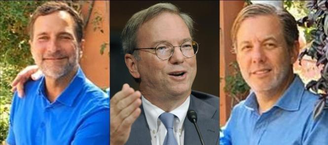 Trafen sich zum Geschäftsgespräch in Llubí: Der ehemalige US-Botschafter für Spanien, James Costos, Ex-CEO von Google, Eric Schmidt und Costos' Lebensgefährte Michael Smith (v.l.).