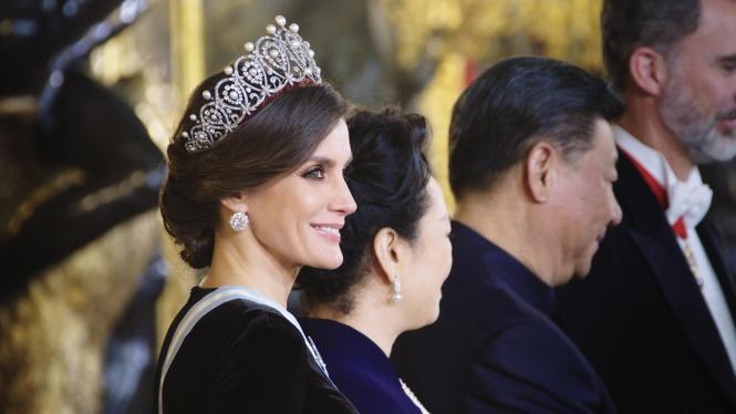 Repräsentieren gehört zum Job von Königin Letizia.
