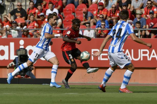 """Baba machte erneut eine starke Partie für die """"Roten"""" von Real Mallorca."""