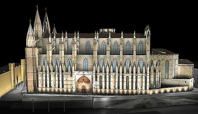 Ein Modell des neuen Beleuchtungskonzepts von Mallorcas Kathedrale.