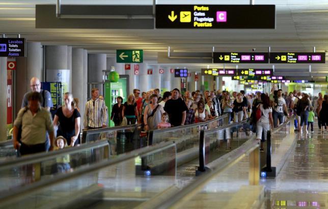 Szene am Flughafen in Palma.